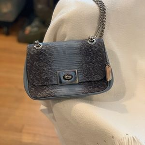 Small leather convertible crossbody shoulder bag